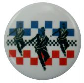 SKA - 'Rude Boy x 3' Button Badge